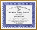 Adv. Hypnosis Training Certificate